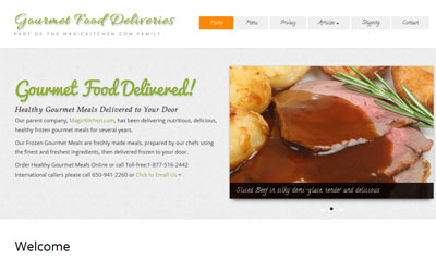 gourmet meals website